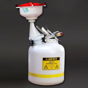 """ECO Funnel® EF-8-Justrite-B5-SYS 8"""" ECO Funnel System, 5 Gal Safety Can, Red Lid"""