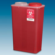 Plasti-Products 146014 14-Quart Big Mouth Sharps Container, Red, Case of 10
