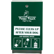 Poopy Pouch Steel Pet Waste Bag Dispenser with Header Bags, Regal