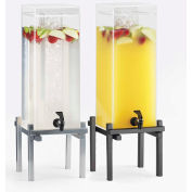 """Cal-Mil 1132-3-74 One by One Iced Beverage Dispenser 3 Gallon 10-1/4""""W x 10-1/4""""D x 25-1/2""""H Silver"""