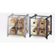 "Cal-Mil 1146-13 One by One 4 Drawer Bread Case 14""W x 14-3/4""D x 15-3/4""H Black"