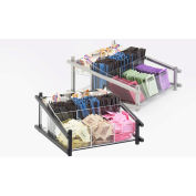 """Cal-Mil 1148-74 One by One Condiment Organizer 13""""W x 14""""D x 6-1/2""""H Silver"""