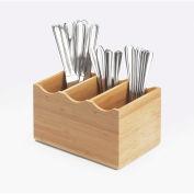 """Cal-Mil 1244-96 Midnight Bamboo Flatware Display 8-1/4""""W x 5-1/2""""D x 4-3/4""""H"""