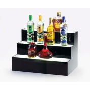 "Cal-Mil 1269 Underlit Acrylic Bottle Display 24""L x 14-1/2""W x 15-1/2""H"