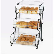 "Cal-Mil 1280-3 Iron 3 Tier Display with Round Nose Bins 17-1/2""W x 16-1/2""D x 25""H"