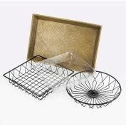 """Cal-Mil 1290 Tray Bamboo Tray 18""""L x 12""""W x 3""""H - Pkg Qty 3"""