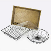 "Cal-Mil 1292 Tray Round Wire Tray 12"" Dia. - Pkg Qty 3"