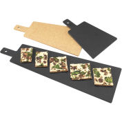 "Cal-Mil 1535-16-13 Rectangle Bread Board with Handle 16""L x 8""W x 1/4""H Black - Pkg Qty 3"