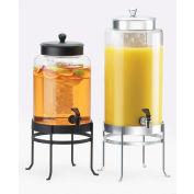 "Cal-Mil 1580-3-13 Soho Glass Beverage Dispenser 3 Gallon 10""W x 12""D x 24-1/2""H Black Base"