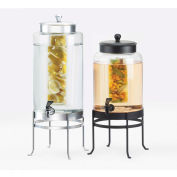 "Cal-Mil 1580-3INF-74 Soho Infusion Beverage Dispenser 3 Gallon 10""W x 12""D x 24-1/2""H Silver Base"