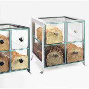 "Cal-Mil 1586-74 Soho Bread Case 14""W x 13""D x 14-1/8""H Silver"