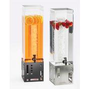 "Cal-Mil 1602-3-55 Squared Beverage Dispenser 3 Gallon 7-1/2""W x 9-1/2""D x 26-3/4""H, S/S Base"