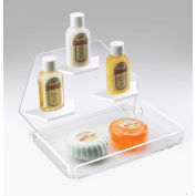 """Cal-Mil 161-12 Clear Amenity Tray with Shelves 7-1/2""""W x 7-1/2""""D x 5""""H - Pkg Qty 8"""