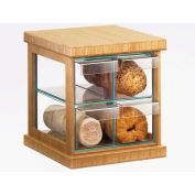 "Cal-Mil 1718-60 Bamboo Bread Case 15-1/2""W x 15""D x 15""H"