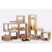 """Cal-Mil 1933-96 Midnight Bamboo Library Shelf System with One Removable Shelf 38""""W x 12""""D x 24""""H"""