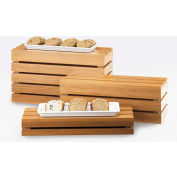 "Cal-Mil 1943-3-60 Bamboo Rectangle Crate Riser 20""W x 7""D x 3""H"