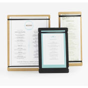 "Cal-Mil 2034-411-13 Menu Board 4""W x 11""H Black - Pkg Qty 6"
