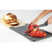 "Cal-Mil 2035-312-13 Puzzle Piece Bread Board Notched End 16""L x 12""W x 1/2""H Black"