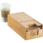 "Cal-Mil 2050-60 Bamboo Coffee Sleeve Dispenser 5-3/4""W x 12""D x 3-3/4""H"