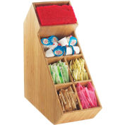 "Cal-Mil 2052-60 Bamboo Stir Stick and Condiment Display 5-1/2""W x 13-1/4""D x 14-1/2""H"