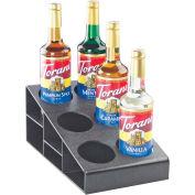 "Cal-Mil 2056 Classic 3 Tier Bottle Organizer, 6 Bottles, Black 8-1/2""L x 14-3/4""W x 6-1/4""H"