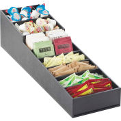 "Cal-Mil 2059 Stackable Cup Dispenser and Condiment Display 6-1/2""W x 22-3/4 x 6-1/4""H Slanted Black"