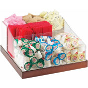 "Cal-Mil 3009-55 Luxe Multi-Section Condiment Organizer White and SS 12-1/4""W x 12-1/4""D x 6-1/2""H"