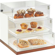 """Cal-Mil 3020-55 Luxe Three Step Bread Case Display 19""""W x 20""""D x 19""""H White and Stainless Steel"""