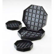 "Cal-Mil 308-4-13 Classic Octagon Drip Tray Black 4""W x 4""D Package Count 12"