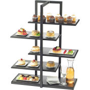 "Cal-Mil 3303-96 One by One Multi Level Shelf Display with Black Stand 28-1/2""W x 13-1/2""D x 36-1/2""H"