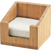"Cal-Mil 3309-60 Bamboo Napkin Holder 6-1/4""W x 6-1/4""D x 5-1/2""H"