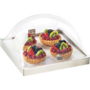 """Cal-Mil 3329-12-55 Square Stainless Steel Chill Pack Display 12""""W x 13""""D x 7-1/2""""H"""