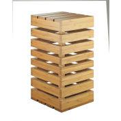 """Cal-Mil 3332-7-60 Bamboo Crate Riser 12""""W x 12""""D x 7""""H"""