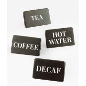"""Cal-Mil 606-3-96 Hot Water Midnight Beverage Sign 3""""W x 2""""H - Pkg Qty 12"""