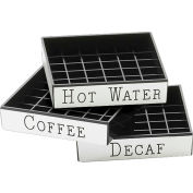 "Cal-Mil 632-2 Decaf Engraved Drip Tray 4""W x 4""D Package Count 12"