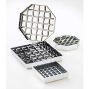 "Cal-Mil 681-4-13 Classic Square Drip Tray Black 4""W x 4""D x 1""H Package Count 12"