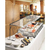"Cal-Mil 768 Aqua Portable Buffet Sneeze guard 29-1/2""W x 12""D x 18""H"