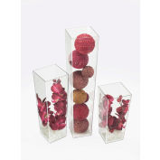 """Cal-Mil 879-24 Square Accent Display 5""""W x 5""""D x 24""""H"""