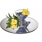 """Cal-Mil GT12 - Glass Tray, Round, Mirror, 12"""" Dia. x 1/4""""H"""