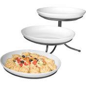 "Cal-Mil SR900-39 3 Step Incline Oval Platter Stand 15""W x 29""D x 12""H Platinum"