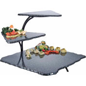 "Cal-Mil SS800-31 Metal 3 Tier Simulated Stone Riser 20""W x 30""D x 18""H Grey"