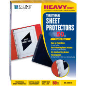 C-Line Products Traditional Polypropylene Sheet Protector, Heavyweight, 11 x 8 1/2, 50/BX