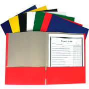 C-Line Products Recycled Two-Pocket Paper Portfolios, Assorted (Color May Vary) - Pkg Qty 100
