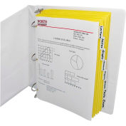 C-Line Products 8-Tab Paper Index Dividers, Clear Tabs, 8/PK - Pkg Qty 18