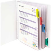 C-Line Products Polypropylene Sheet Protector with Index Tabs, Assorted Color Tabs, 11 x 8 1/2, 5/ST - Pkg Qty 6