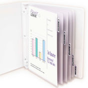 C-Line Products Polypropylene Sheet Protector with Index Tabs, Clear Tabs, 11 x 8 1/2, 5/ST - Pkg Qty 6
