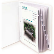 C-Line Products Polypropylene Sheet Protector with Index Tabs, Clear Tabs, 11 x 8 1/2, 8/ST - Pkg Qty 3