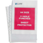 C-Line Products Standard Weight Polypropylene Sheet Protector, A4 SIZE, Clear, 11 3/4 x 8 1/4, 50/BX - Pkg Qty 2