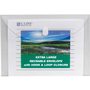 """C-Line Products Biodegradable & Reusable Side Load Poly Envelopes, 11""""W x 8-1/2""""H, Clear, 25/Pack"""