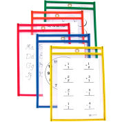 C-Line Products Reusable Dry Erase Pockets, Assorted Primary Colors, 6 x 9, 10/PK - Pkg Qty 2